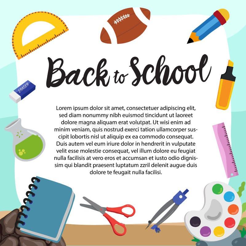 Back to school vector design stock illustration