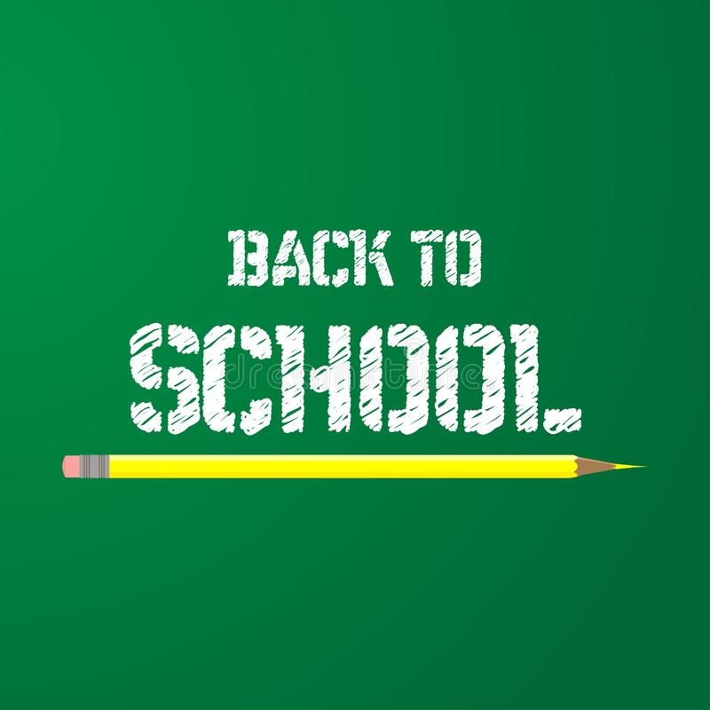 Back to school vector education background.  Kids knowledge equipment creative text drawing. Art illustration happy study banner stock illustration