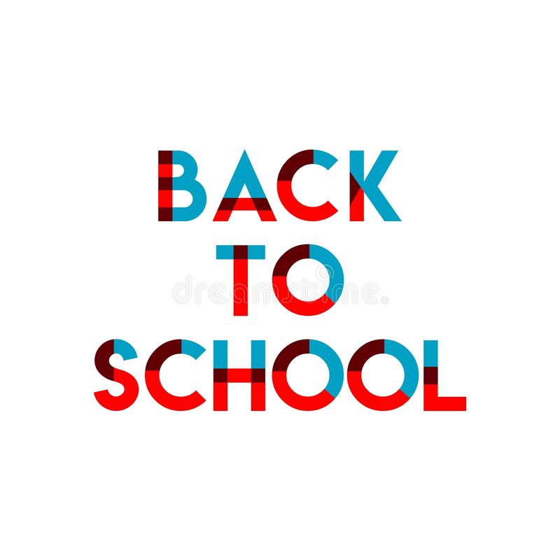 Back to School Vector Template Design Illustration stock illustration