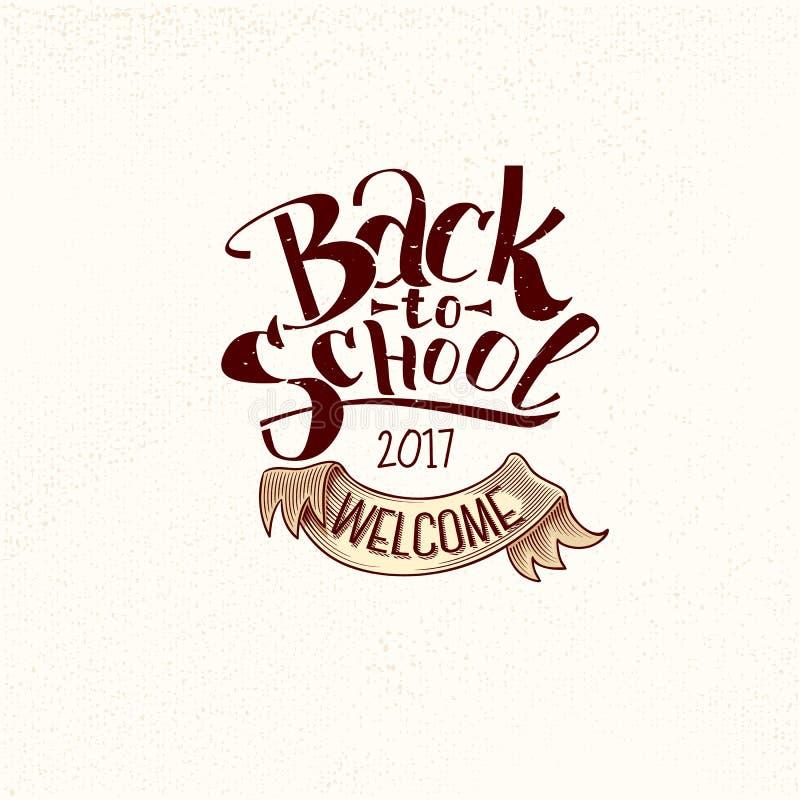Back to school vintage label royalty free illustration