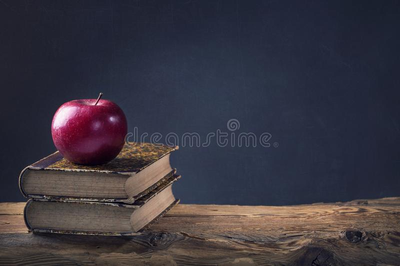 Back to School. Vintage still life with copy space stock photos