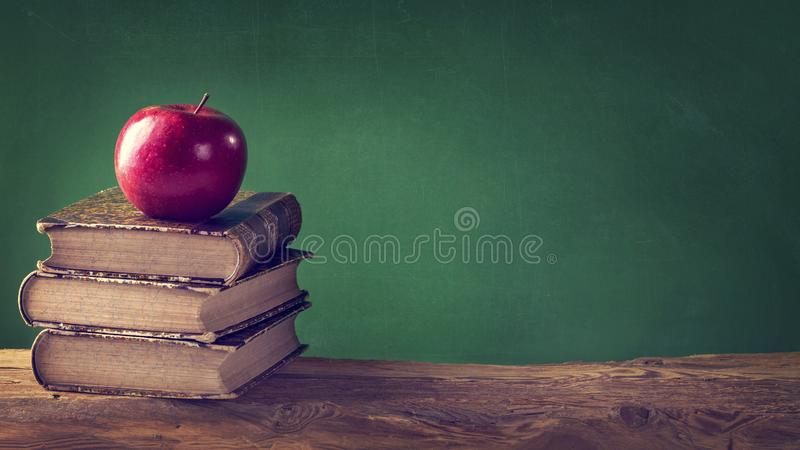 Back to School. Vintage still life with copy space royalty free stock photos
