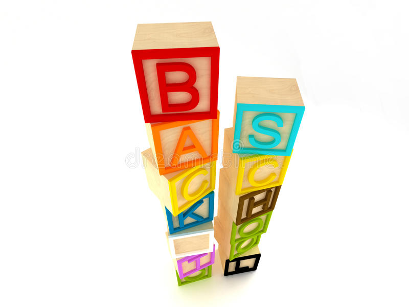 Download Back To School - Wooden Blocks Letters Stock Illustration - Image: 15929381