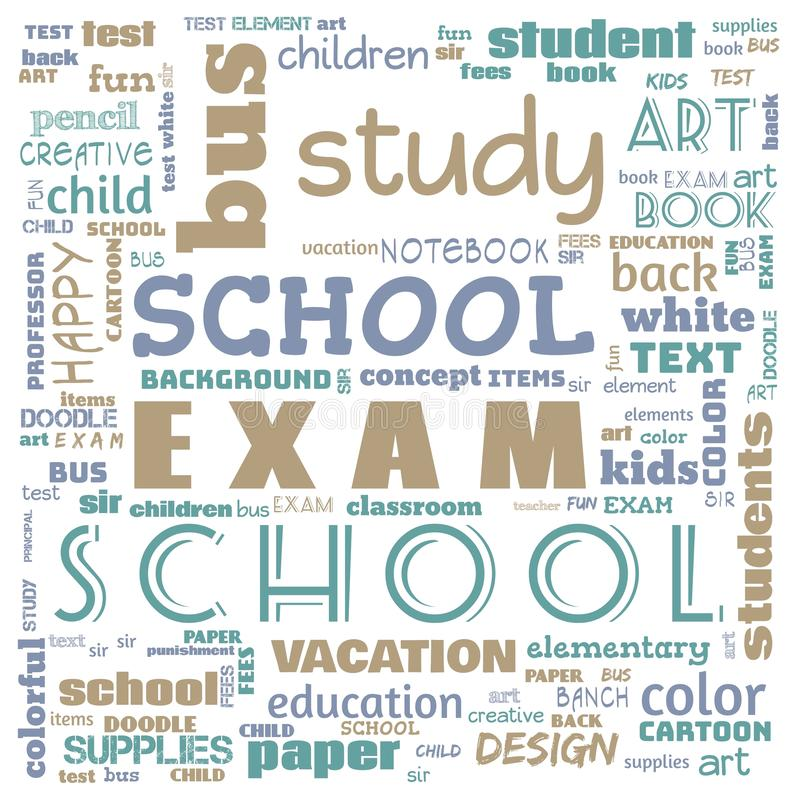 Back to the school word cloud, word cloud for school life, this word cloud use for banner, painting, motivation, web-page, website. Background, t-shirt, shirt vector illustration
