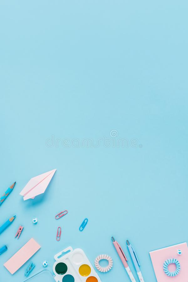 Back to school. Writing materials. royalty free stock photos