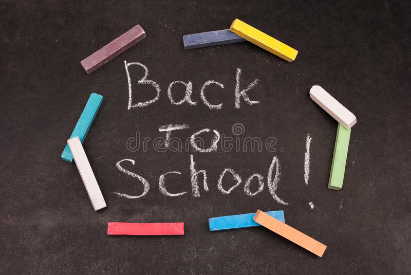 Download Back to school written stock photo. Image of classroom - 13418534