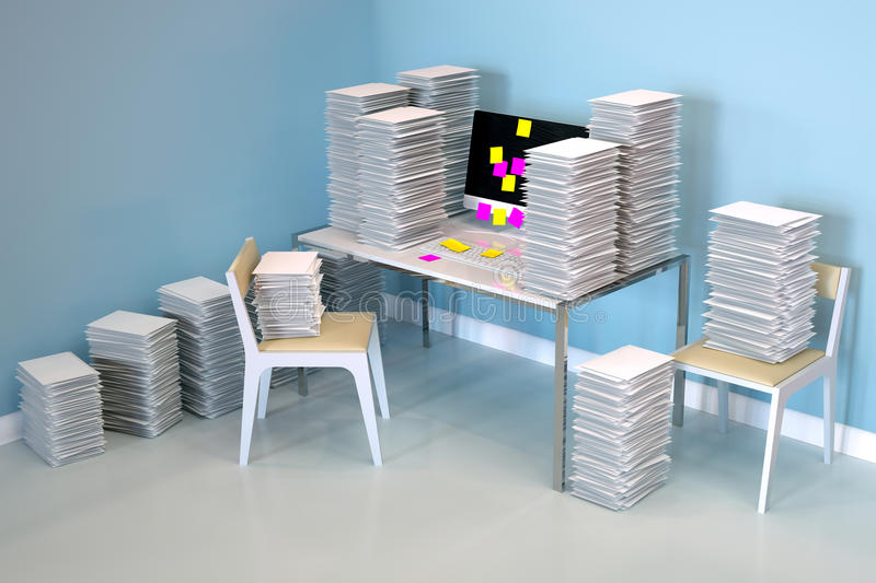 Back to work - backlog after vacation royalty free stock photos