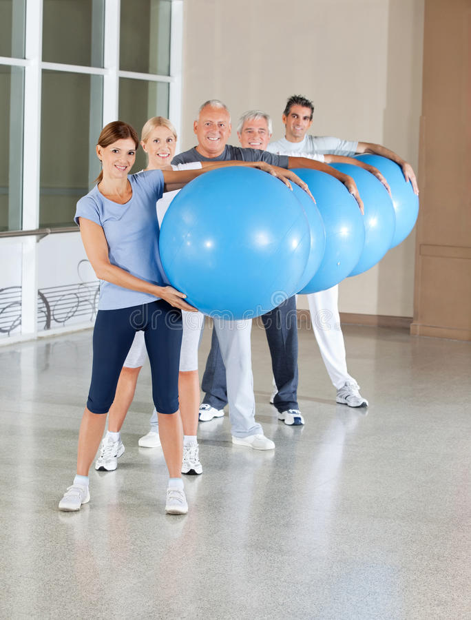 Download Back Training With Gym Balls Royalty Free Stock Photos - Image: 23996358