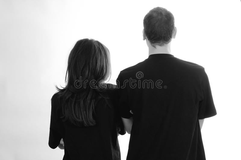 Download Back of two teens stock photo. Image of long, models - 22760742