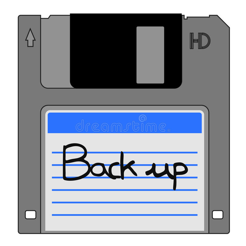 Download Back up data stock vector. Image of program, tech, sticker - 23531984