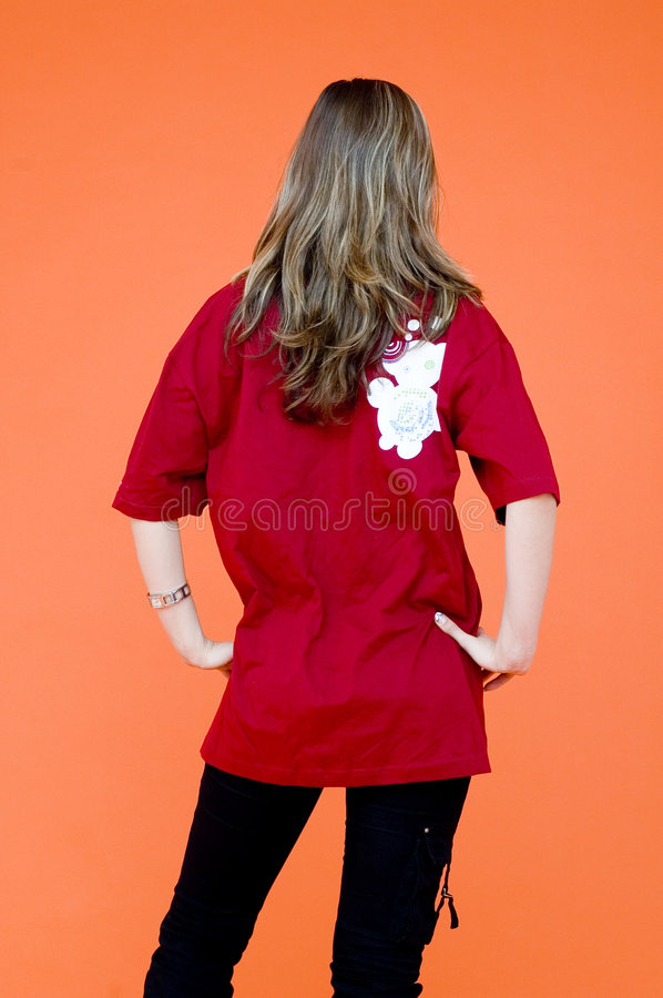 Download Back view stock image. Image of female, casual, caucasian - 1957479