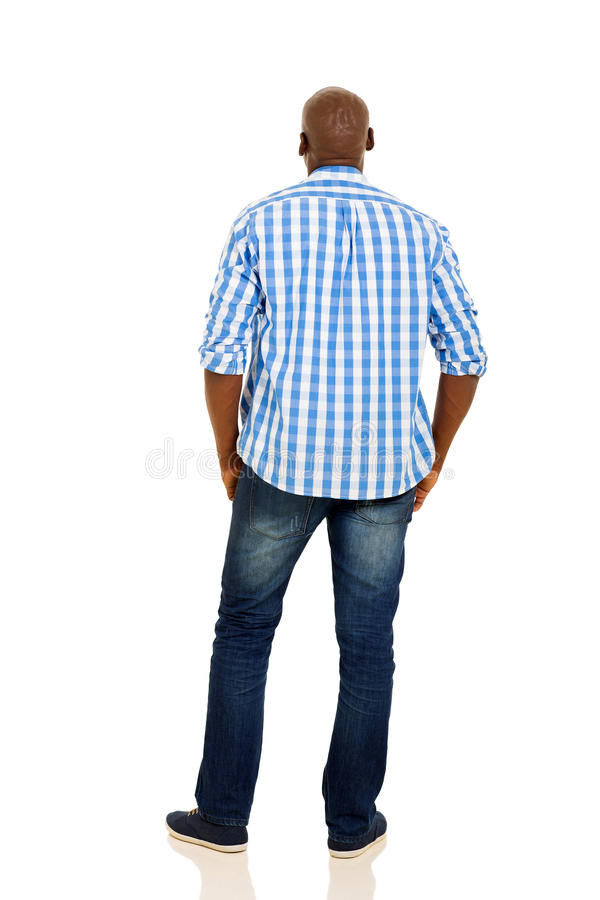 Back view african man stock photography