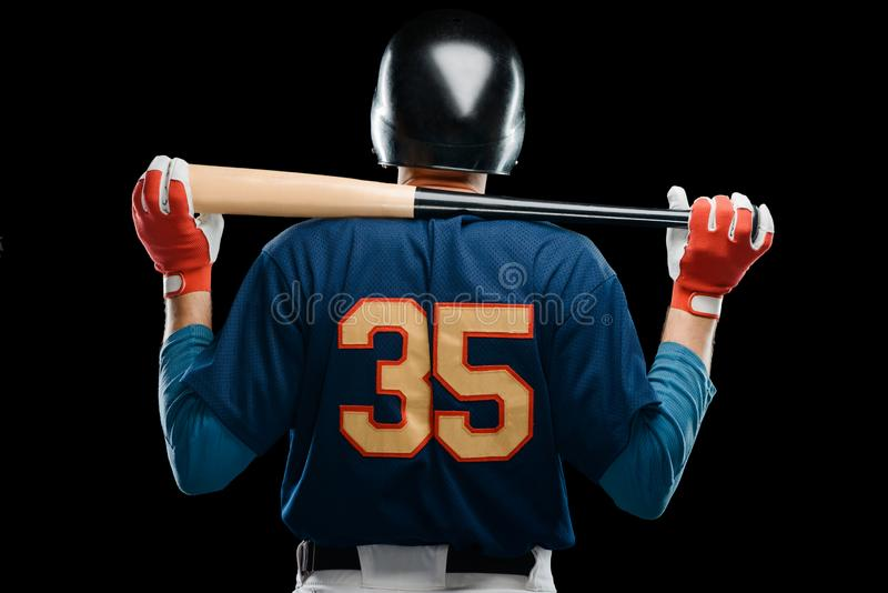 Back view on baseball player royalty free stock images