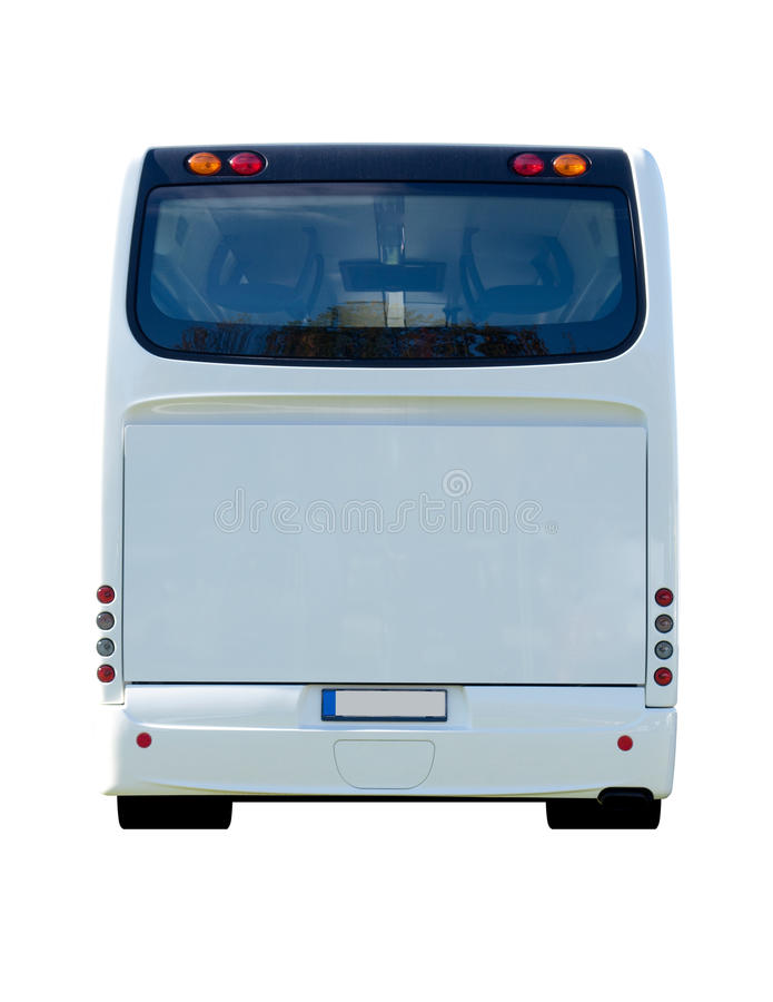 Back View of the Bus stock image