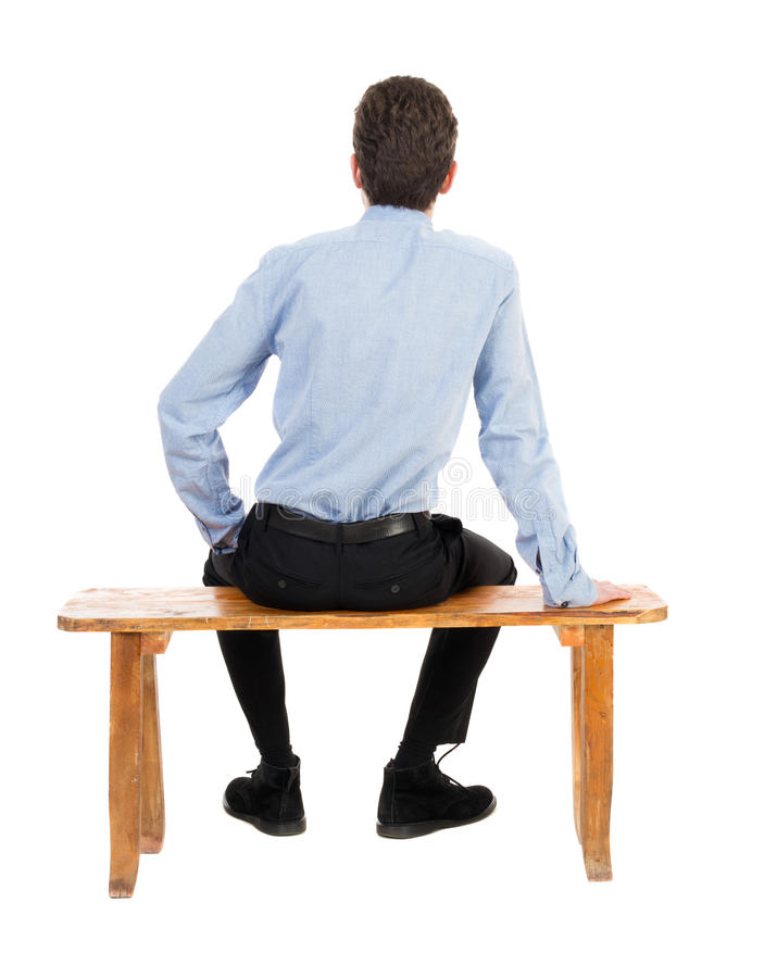 Back View Of Business Man Sitting On Chair Stock Image