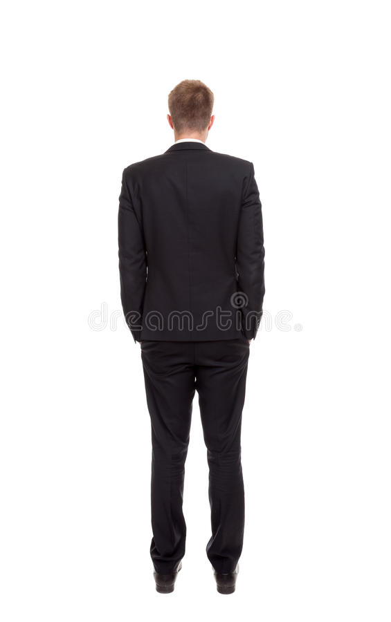 Back view of a businessman royalty free stock photo
