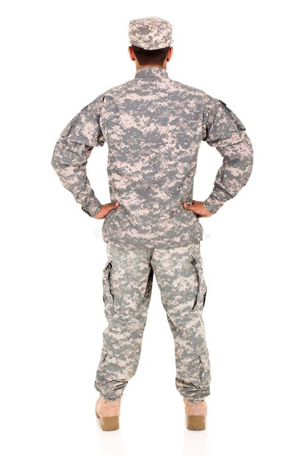 Back view military man stock photos