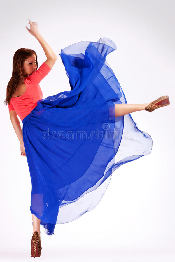 Download Back View Of A Modern Ballerina Kicking Stock Image - Image of cabaret, ballerina: 26587115