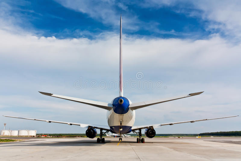 Back view of plane stock image
