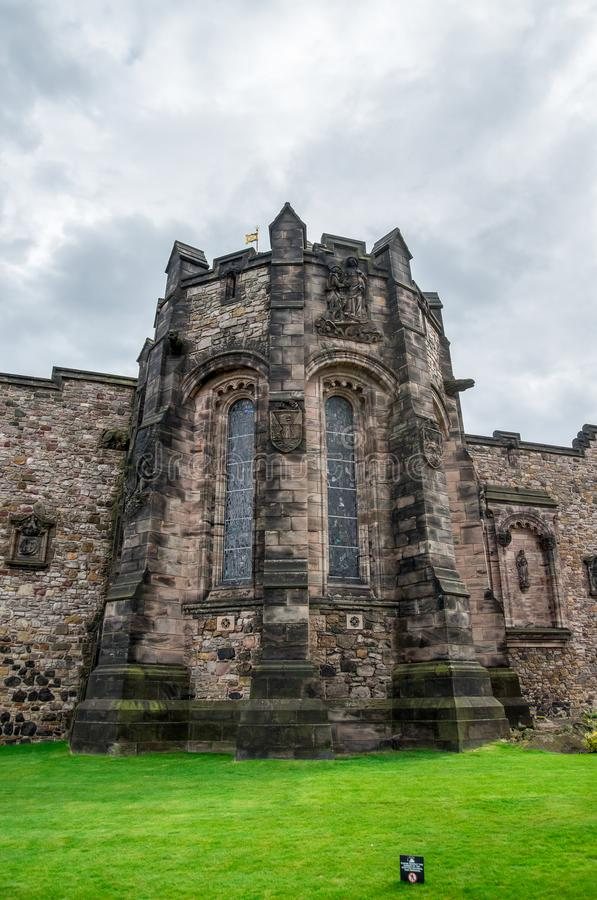A back view of Scottish National War memorial in Edinburgh Castle stock images