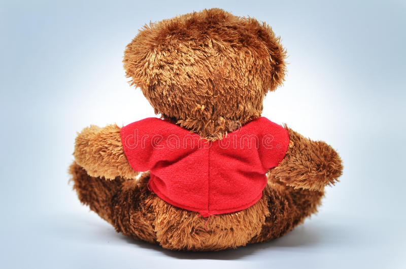 Back view of teddy bear royalty free stock image