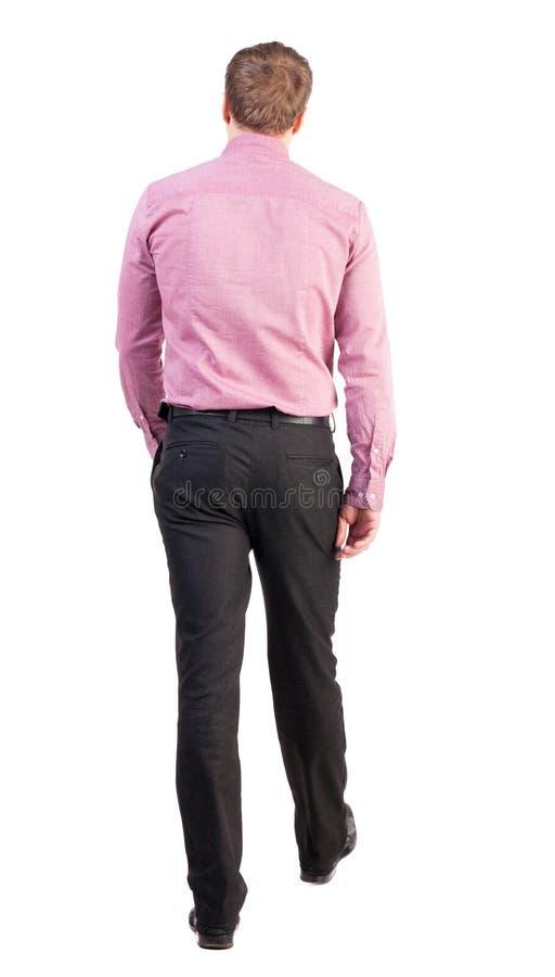 Back view of walking business man royalty free stock image