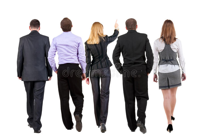 Download Back View Of Walking Business Team Stock Photo - Image of expertise, group: 26537436