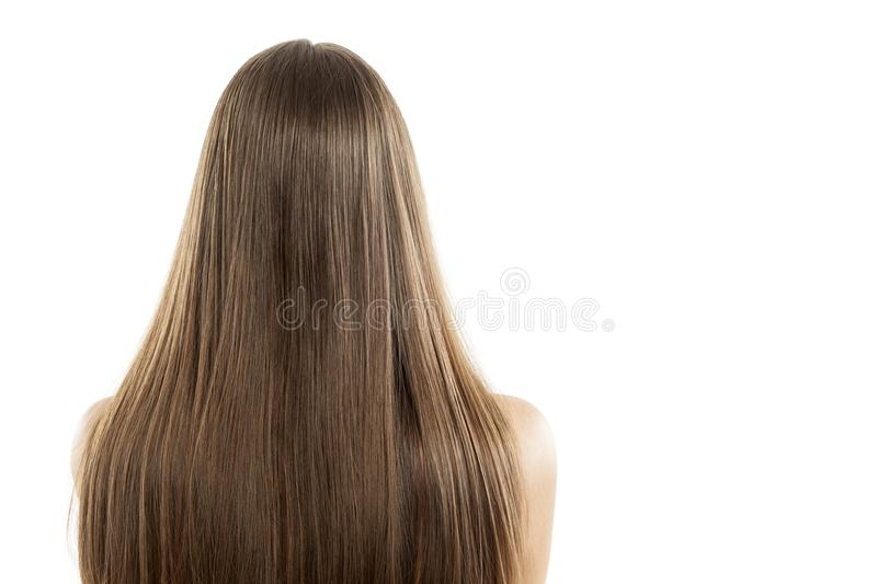 Back view of a woman royalty free stock photography