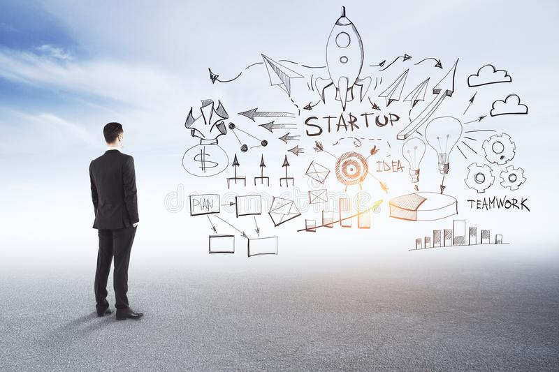 Start up and idea concept stock images
