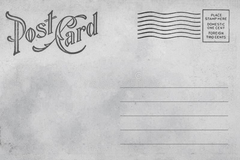 Back of vintage blank postcard. stock photos