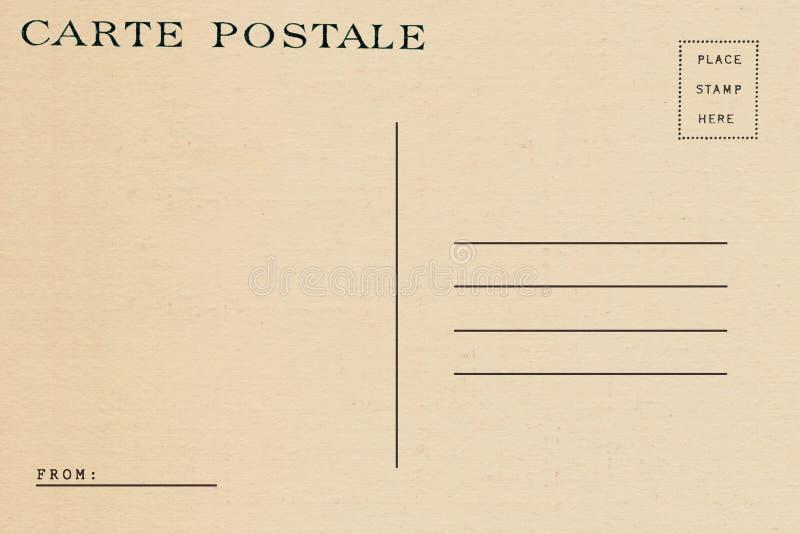 Back of vintage blank postcard stock photos