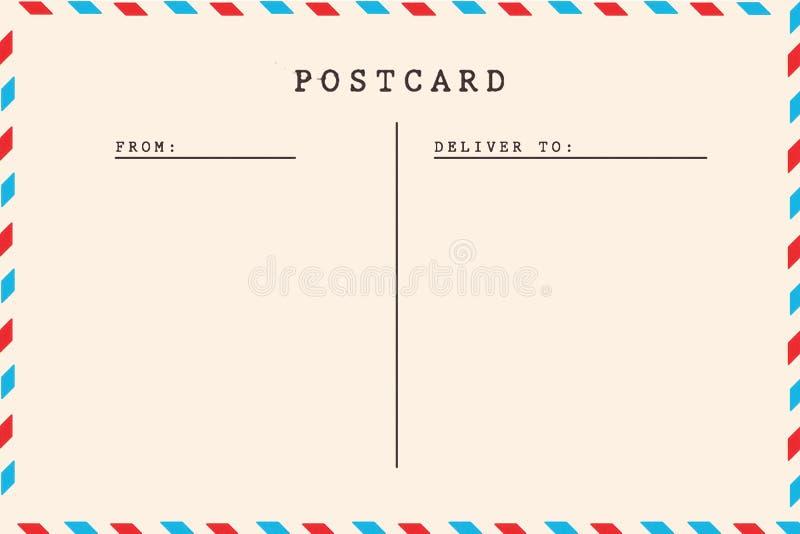 Back of vintage blank postcard stock photo