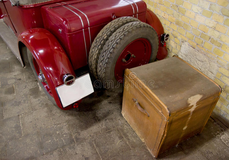 Download Back of Vintage Car stock image. Image of travel, timer - 41458123