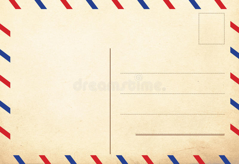 Back of vintage postcards royalty free stock photos