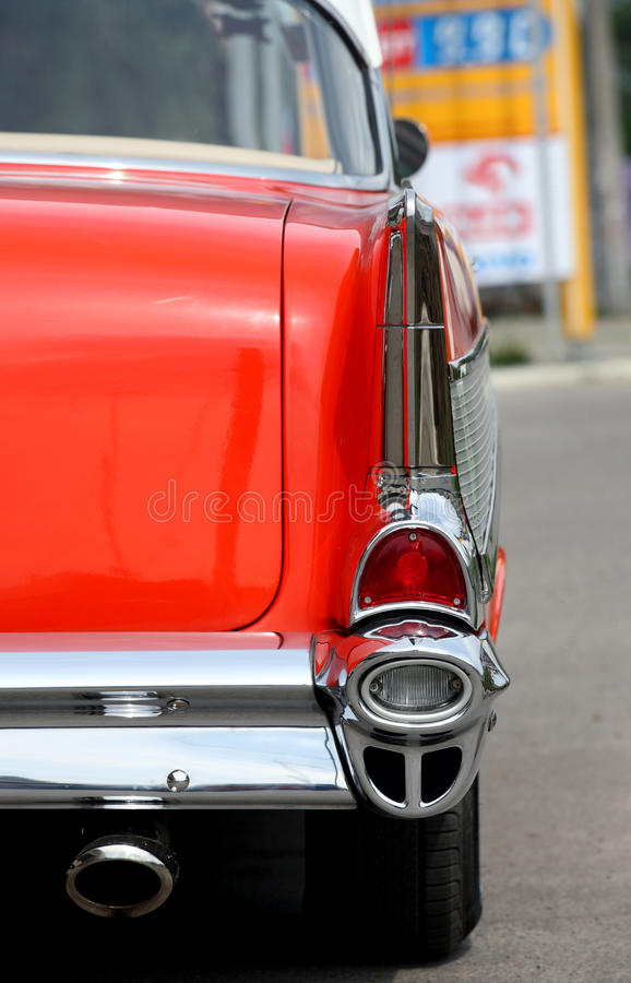 Back Of Vintage Red Car Royalty Free Stock Photo