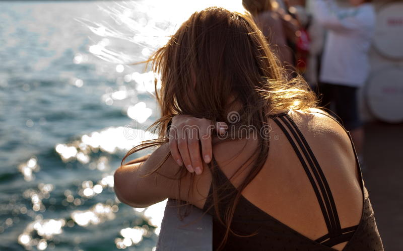 Download Back Of Woman On Boat Royalty Free Stock Image - Image: 24242866