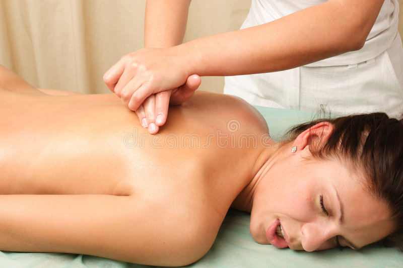 Back woman massage - horizontal royalty free stock photos