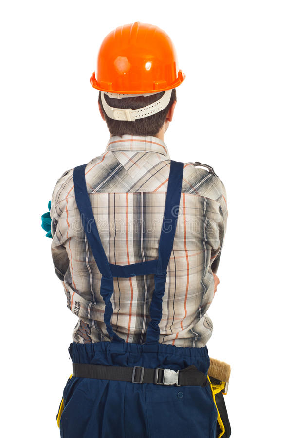 Download Back of workman stock image. Image of builder, rear, people - 19108775