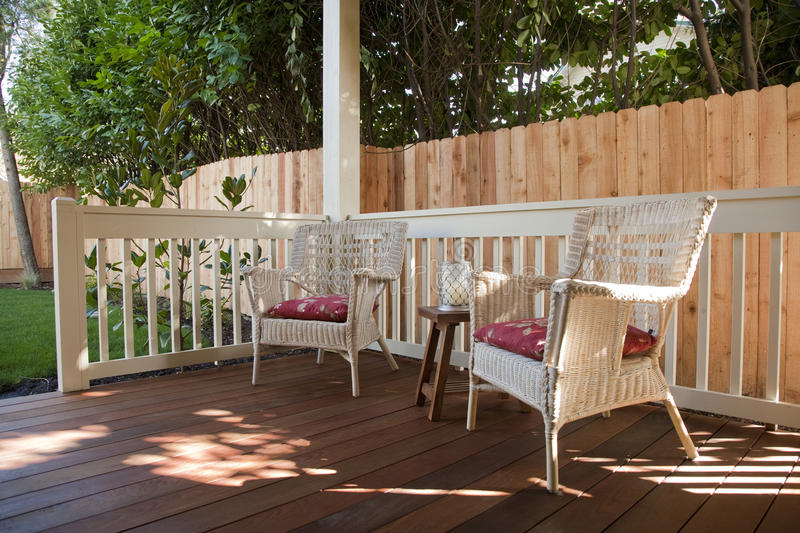 Download Back Yard Deck stock image. Image of horizontal, chairs - 12991859