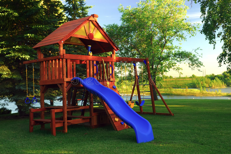 Download Back Yard Play Structure Stock Photo. Image Of Happiness   2739810