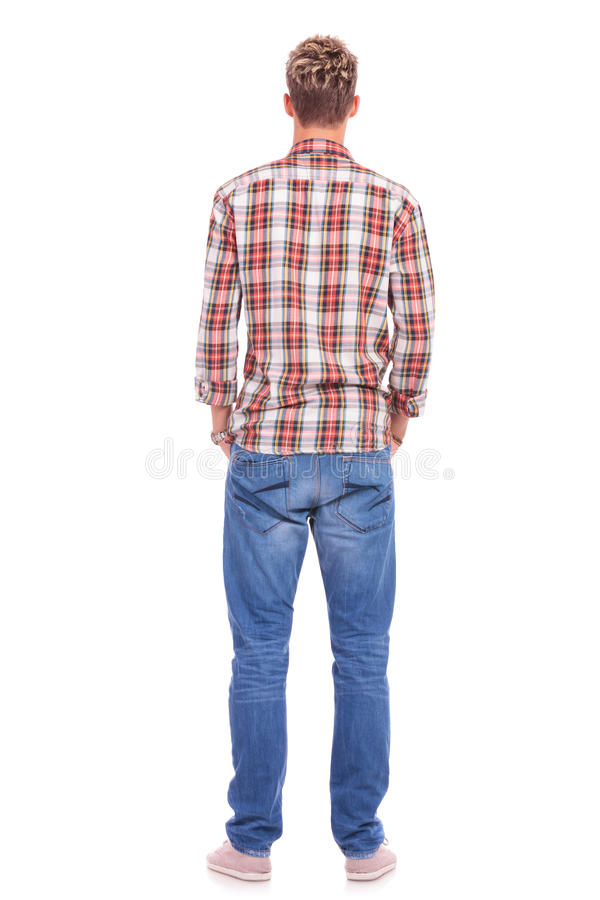 Download Back Of Young Man Hands In Pockets Stock Photo - Image: 27446204