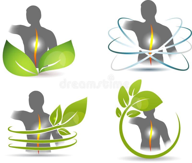 Backache gojenie ilustracji