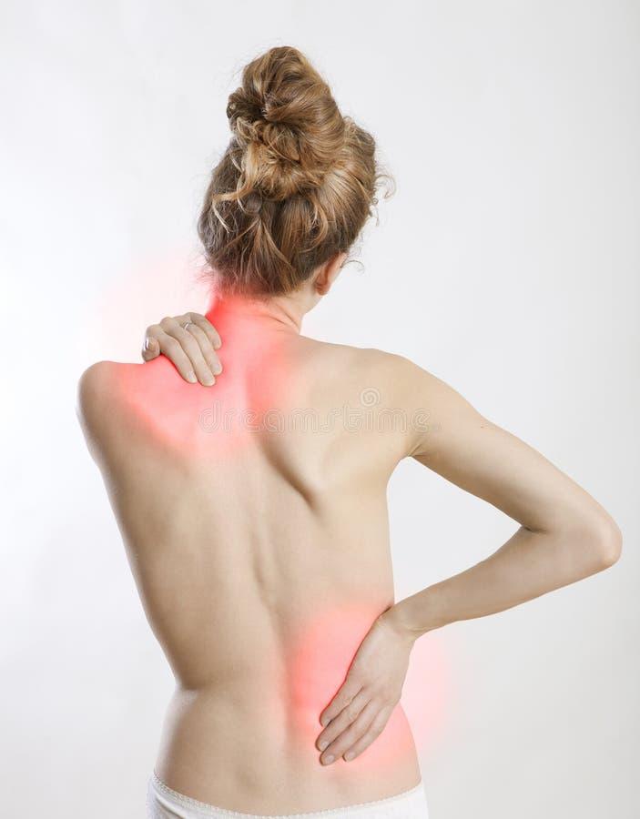 Backache kobieta zdjęcie royalty free