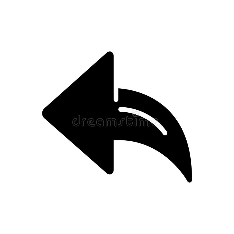 Backarrow、方向和尖的黑坚实象 向量例证