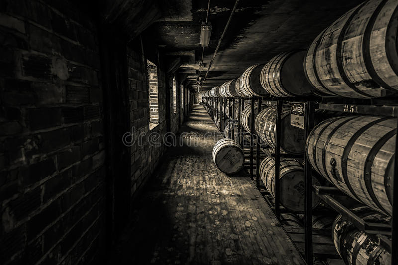 The Backbone of America Dark. Where the Magic Happens. Kentucky and Tennessee have more barrels than people -- and liquor paid 1/3 of all federal taxes during stock photography