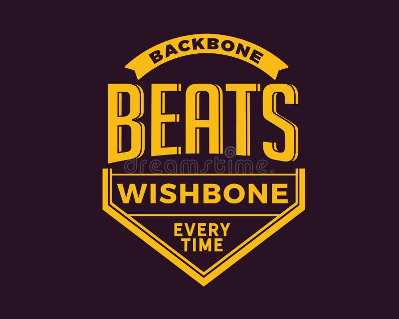 Backbone beats wishbone everytime. Best motivational quote royalty free illustration