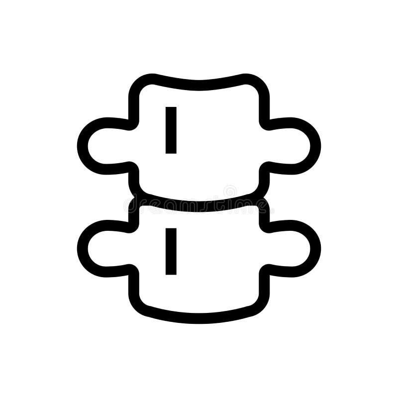 Backbone icon design back skeleton symbol. line art medical healthcare  illustration. Eps 10 stock illustration