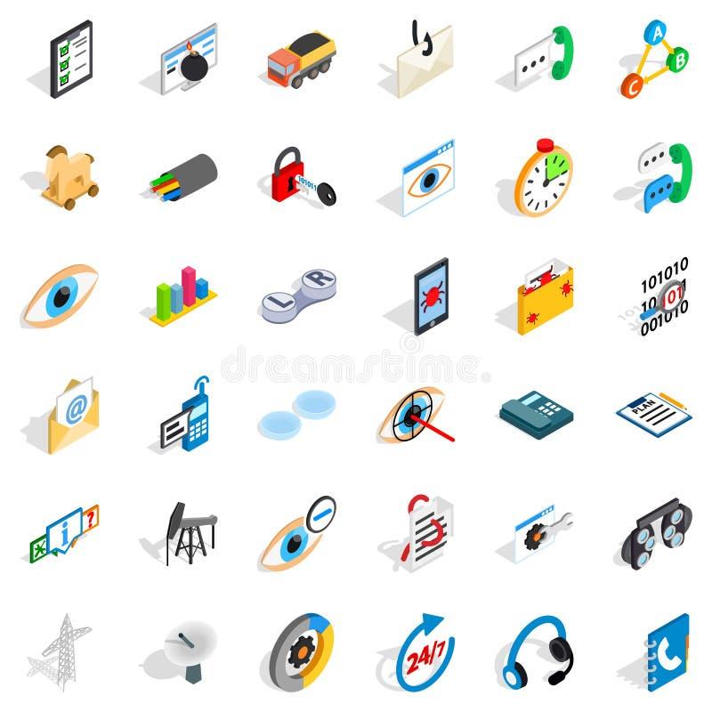 Backbone icons set, isometric style. Backbone icons set. Isometric set of 36 backbone vector icons for web isolated on white background vector illustration