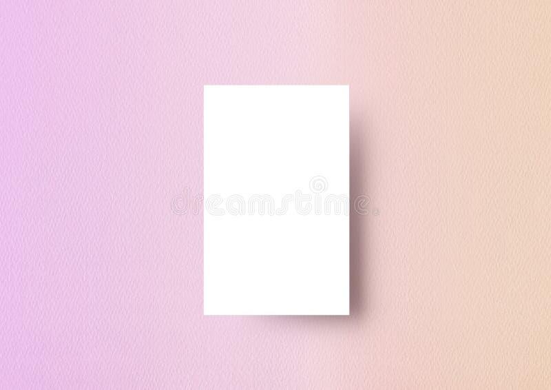 Backbro градиента шаблона модель-макета Naemcard текстурированное paastel бумажное бесплатная иллюстрация