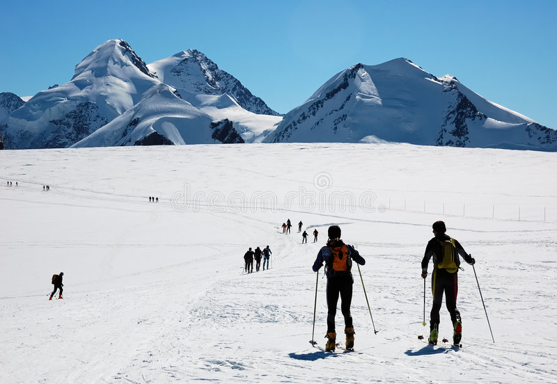 backcountry σκι στοκ φωτογραφία